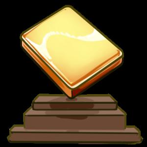 Golden mahjong trophy