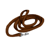 Coiled brown leash