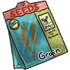 Seed bag with grain seed